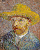 Vincent van Gogh - Self-Portrait with a Straw Hat