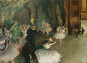 Edgar Degas - The Rehearsal of the Ballet Onstage
