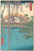 Utagawa Hiroshige - In the Kameido Tenjin Shrine Compound