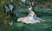 Edouard Manet - The Monet Family in Their Garden at Argenteuil