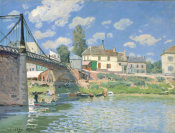 Alfred Sisley - The Bridge at Villeneuve-la-Garenne