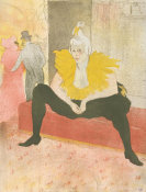 Henri de Toulouse-Lautrec - The Seated Clowness (Mademoiselle Cha-u-ka-o), 1896