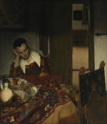 Johannes Vermeer - A Maid Asleep
