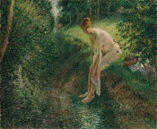 Camille Pissarro - Bather in the Woods, 1895