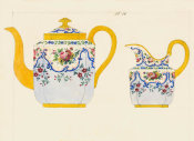 French, 19th century - Porcelain Designs (detail)