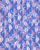 Paul Poiret - Fabric Design with Diamond Pattern