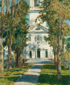 Childe Hassam - The Church at Gloucester