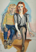 Alice Neel - Jackie Curtis and Ritta Redd, 1970
