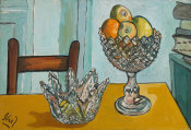 Alice Neel - Cut Glass with Fruit, 1952