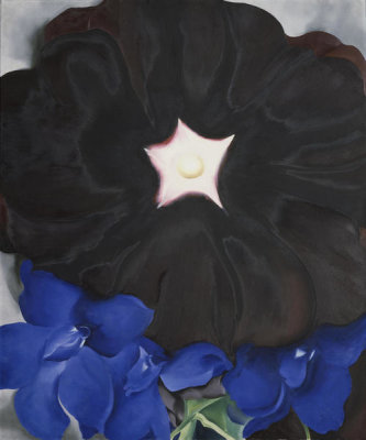 Georgia O'Keeffe - Black Hollyhock, Blue Larkspur
