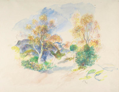 Auguste Renoir - Landscape with a Path between Trees