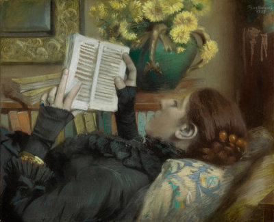 Albert Bartholomé - The Artist's Wife Reading