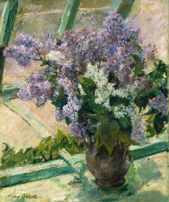 Mary Cassatt - Lilacs in a Window (Vase de Lilas à la Fenêtre)