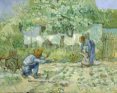 Vincent van Gogh - First Steps, after Millet
