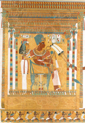 Unknown Egyptian artist - Amenhotep III and his Mother, Mutemwia, in a Kiosk