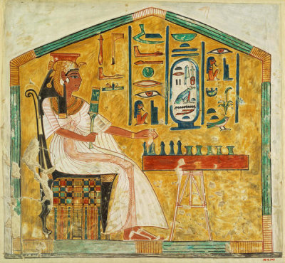 Unknown Egyptian artist - Queen Nefertari Playing Senet