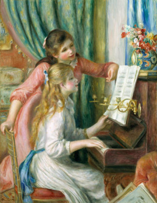 Auguste Renoir - Two Young Girls at the Piano