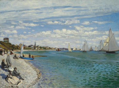 Claude Monet - Regatta at Sainte-Adresse