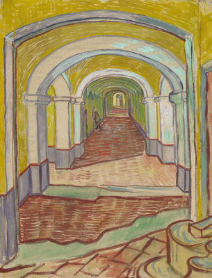 Vincent van Gogh - Corridor in the Asylum, 1889