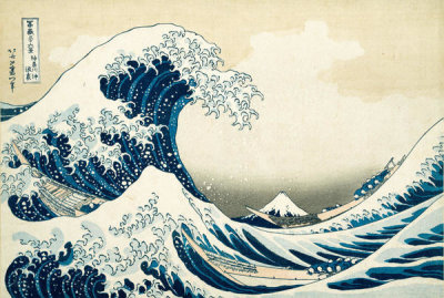 Katsushika Hokusai - Under the Wave off Kanagawa, or The Great Wave, from the series Thirty-six Views of Mount Fuji, ca. 1830-32