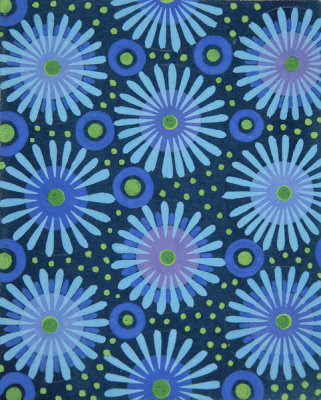 Paul Poiret - Fabric Design with Flowers, Circles, and Dots