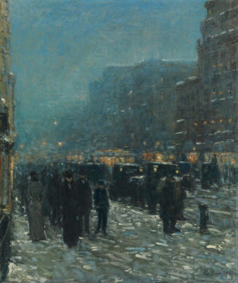 Childe Hassam - Broadway and 42nd Street