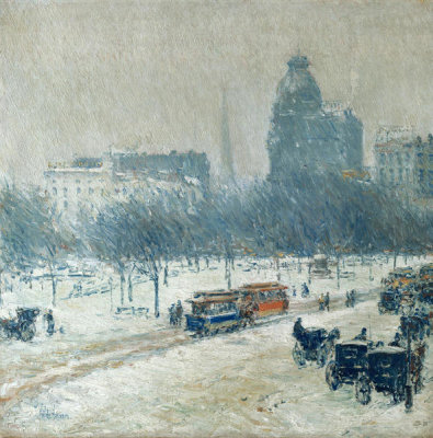Childe Hassam - Winter in Union Square