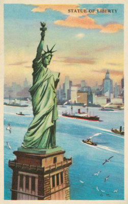 Issued by Gordon Bread Company - Statue of Liberty, bakery card from the Nature's Splendor series