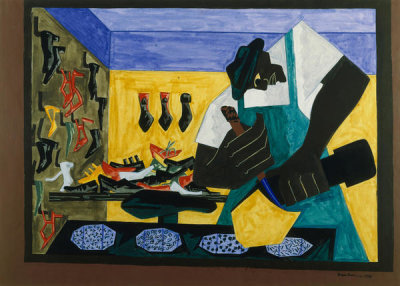Jacob Lawrence - The Shoemaker, 1945