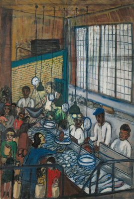 Alice Neel - Fish Market, 1947
